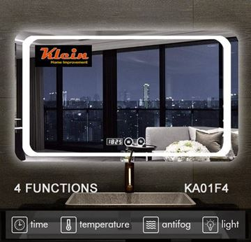 Picture of LED Bathroom Mirror 800 X 600 MM H with rounded corners with 4 Functions, ref KA001F4