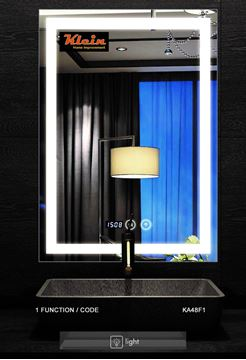 Picture of LED Bathroom Mirror 600 X 800 mm H with Touch On/OFF Switch, ref KA48F1