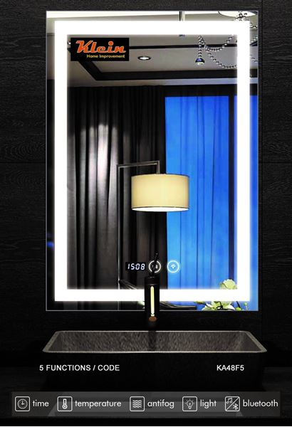 Picture of LED Bathroom Mirror 600 x 800 mm H with Bluetooth, ref KA48F5