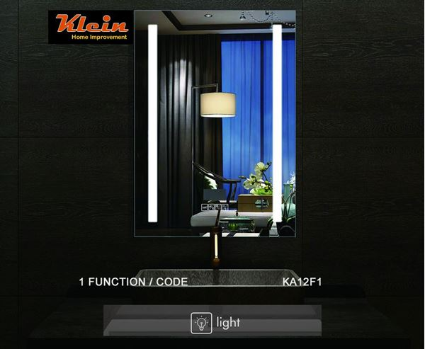 Picture of LED Bathroom Mirror 600 x 800 mm H OR  800 x 600 mm H with Touch up Light Switch Ref KA12F1