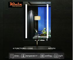 Picture of LED Bathroom Mirror 600 x 800 mm H with 4 Functions Ref KA12F4