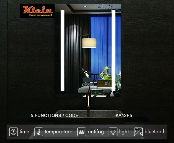 Picture of LED Bathroom Mirror 600 x 800 mm H with Bluetooth speaker Ref KA12F5