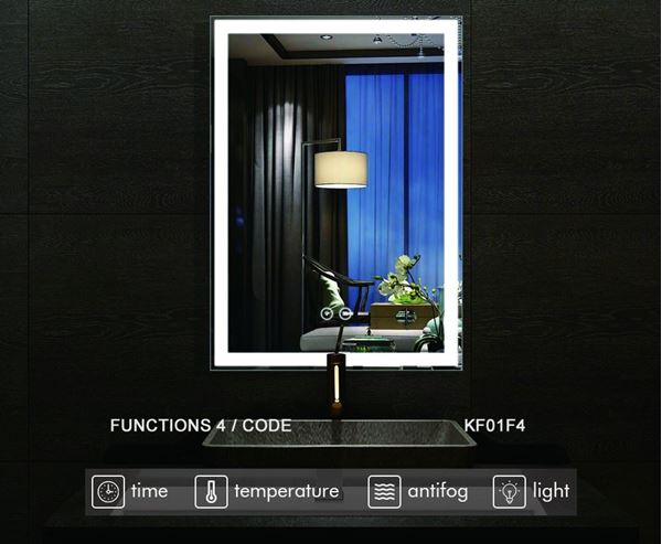 Picture of LED Bathroom LED Mirror with 4 Functions, ref KA17F4