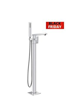 Picture of BLACK Friday Bijiou TANZANITE Freestanding bath mixer square style, heavy brass, 12 years guarantee
