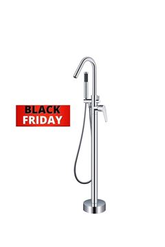 Picture of BLACK FRIDAY Bijiou NOVA Freestanding bath mixer round style, heavy brass