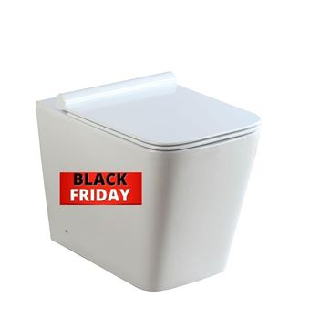 Picture of BLACK FRIDAY Bijiou Opale back to wall square toilet pan