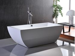 Picture of Bijiou Caen Freestanding Seamless Acrylic bath, 1700 x 800 x 600 mm H, 12 years guaranty