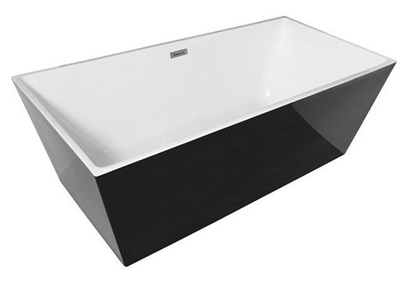 Picture of Bijiou Jura Freestanding BLACK & White acrylic bath 1700 mm L