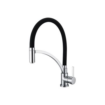 Picture of BIJIOU SELUNE Brass Kitchen Sink mixer pull down with Black silicone hose, Ex Cape Town