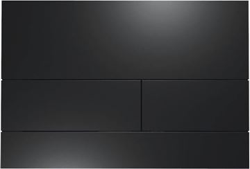 Picture of Tece Square II BLACK stainless steel extra flat flush plate for cistern with anti fingerprint