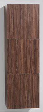Picture of SALE WALNUT TALL Side Cabinet with 3 soft closing doors, 1500 H x 450 L x 300 D