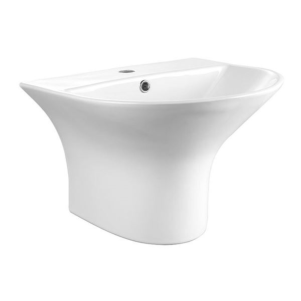 Picture of SALE Bijiou Wall mounted basin 480mm L x 430 mm D, ref BJEXQ