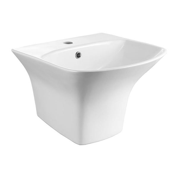 Picture of SALE Bijiou Square style WALL mounted basin ref BJLUX