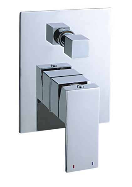Picture of SALE Tanzanite square bath and shower concealed DIVERTOR mixer