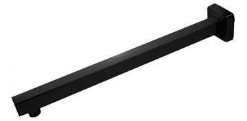 Picture of BLACK Stainless Steel Square Shower Arm 400 mm long