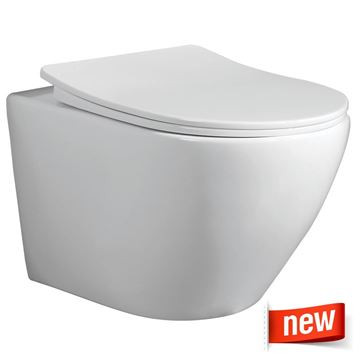 Picture of Bali wall hung toilet with toilet seat