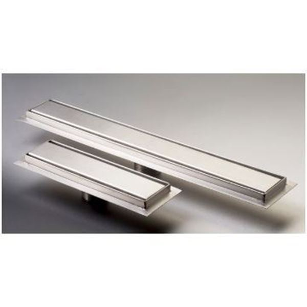 Picture of 250 mm long stainless Steel shower channel with solid grid