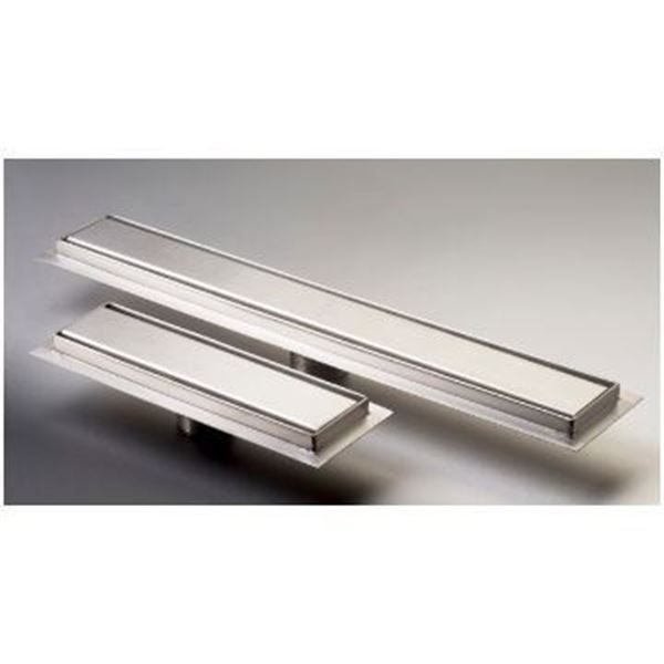 Picture of 450 mm long Slim Stainless Steel shower channel with solid grid