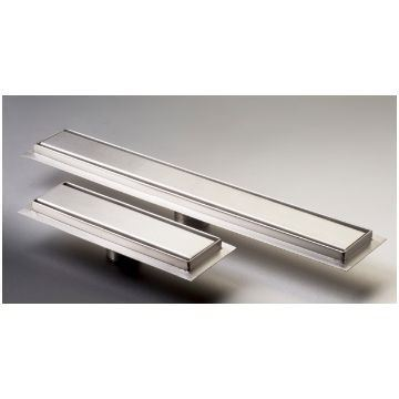 Picture of 700 mm long Slim Stainless Steel shower channel with solid grid