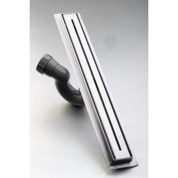 Picture of 700 mm long Slim Stainless Steel shower channel with slotted cover grid