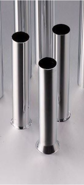 Picture of Chrome plated tail pipe 32 x 300 mm for round bottle trap