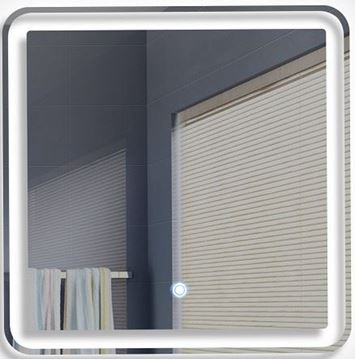 Picture of Stylish Square LED Mirror 600 x 600 mm H with touch up light switch