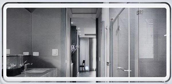 Picture of Stunning Double LED Mirror 1200 x 600 mm H with touch up light switch