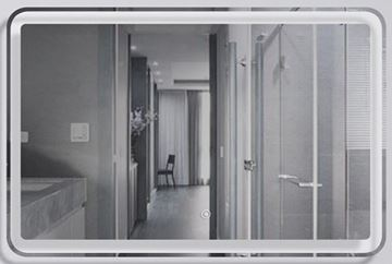 Picture of Modern LED Mirror 900 x 600 mm H with touch up light switch