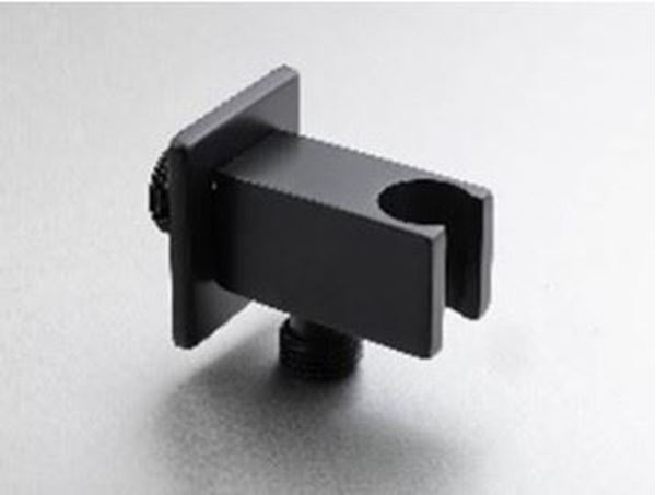 Picture of Square  Brass BLACK outlet with bracket for hand shower
