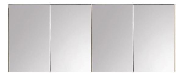 Picture of 2000 mm L Mirror Bathroom cabinet / Medicine cabinet with 4 soft closing doors and 2 shelves