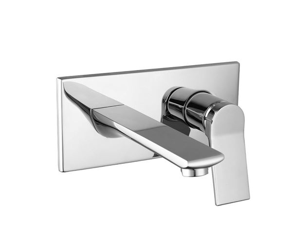 Picture of Bijiou Maine contemporary BASIN and BATH  Spout mixer  with cover plate