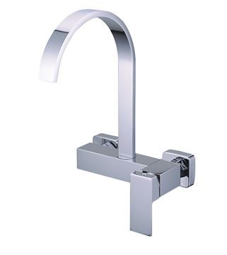 Picture of BLACK FRIDAY Tanzanite square KITCHEN sink mixer WALL type