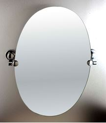Picture of Oval  Bathroom Mirror with wall holders