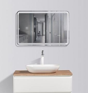 Picture of Lazio Bathroom cabinet 900 mm with 1 drawer, wooden countertop and basin