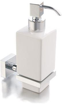 Picture of IMOLA SOAP DISPENSER, Ceramic and Brass, square style