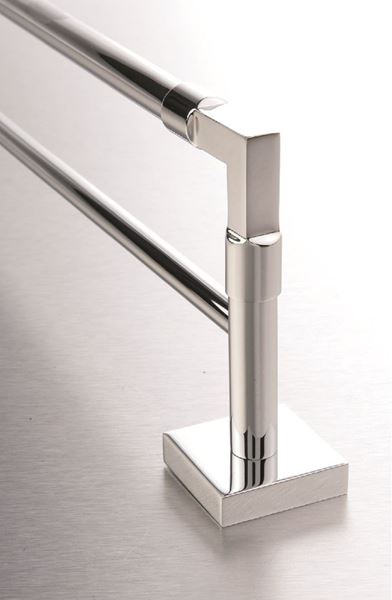 Picture of IMOLA DOUBLE towel RAIL 600 mm L. Solid Brass, square style