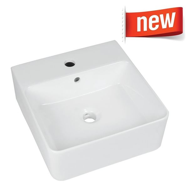 Picture of Ceramic Vitreous china basin 400mm x 410mm