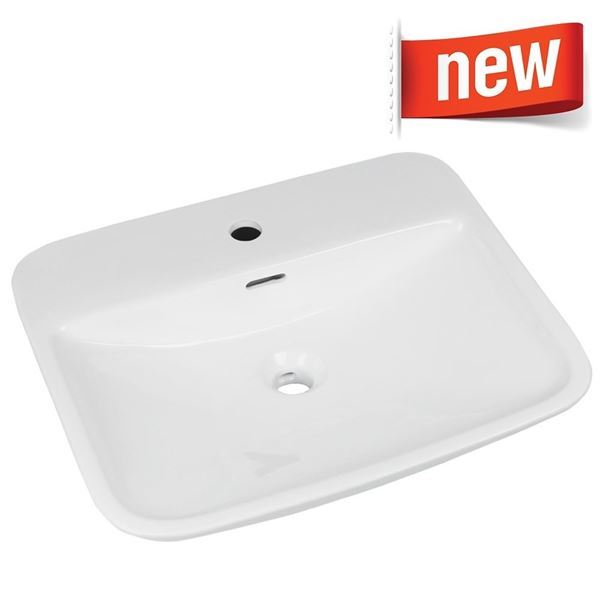 Picture of Ceramic basin vitreous china rectangular basin 550 x 460 x 135 mm