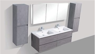 Picture of Enzo  CONCRETE 1500 mm L Double bathroom cabinet SET with 4 soft closing drawers