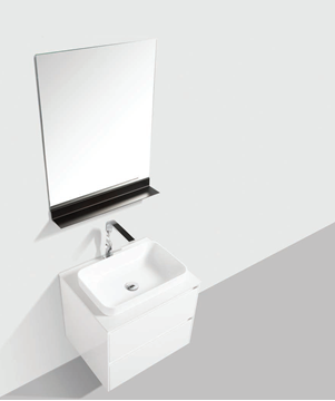 Picture of Madrid 600 mm WHITE cabinet SET with 2 drawers, Quartz stone countertop & basin
