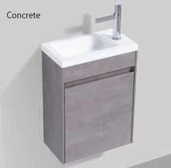 Picture of Enzo CONCRETE small bathroom cabinet SET 400 x 220 mm, 1 door with Blum hinges