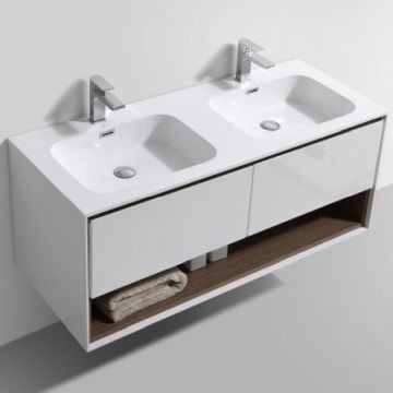 Picture of Versace 1200 mm L bathroom cabinet SET with 2 drawers and cubbyhole