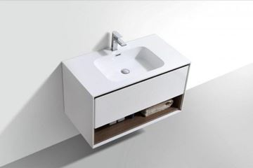 Picture of Versace 900 mm L bathroom cabinet SET with 1 drawer and cubbyhole