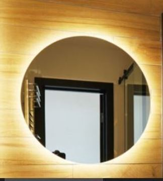 Picture of Soft Glow LED ROUND mirror 900 mm with 3 colors mode & demister / defogger