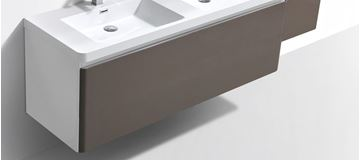 Picture of Milan WHITE and GREY double bathroom cabinet  body 1200 mm L 1 drawer