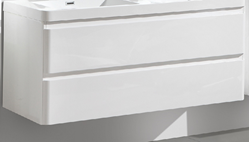 Picture of Milan WHITE  cabinet BODY 1200 mm L with 2 drawers