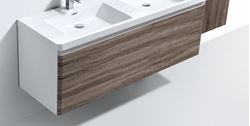 Picture of Milan WHITE and SILVER OAK double bathroom cabinet  body 1200 mm L 1 drawer