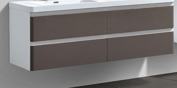 Picture of  Milan White & GREY cabinet BODY 1200 mm L with 2 drawers