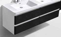 Picture of Milan White & BLACK cabinet BODY 1200 mm L with 2 drawers