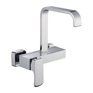 Picture of SALE Loire square KITCHEN sink mixer WALL type